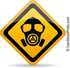 chimique, danger, panneau avertissement