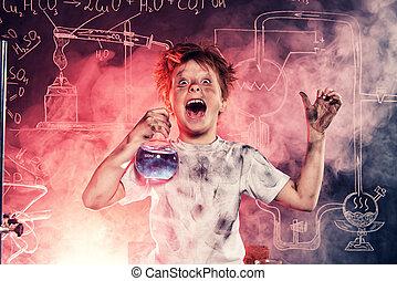 chimique, dangereux, expérience