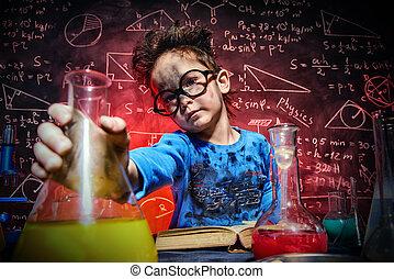 chimique, expériences, concept
