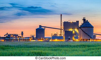 chimique, fantasme, industriel, usine, détail