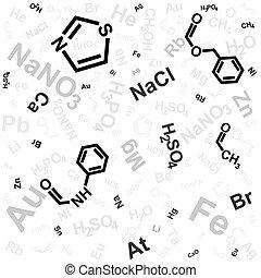 chimique, fond