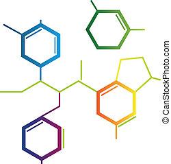 chimique, formule, résumé, illustration