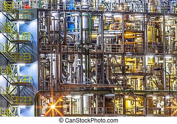 chimique, industriel, détail, usine