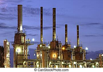 chimique, installation, port, o