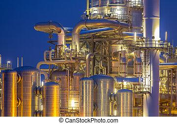 chimique, tours, distillation, détail