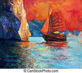 chinois, bateau