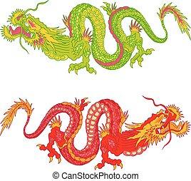 chinois, dragons