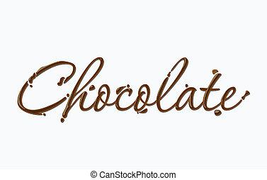 chocolat, texte