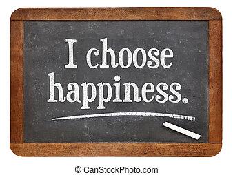 choisir, bonheur