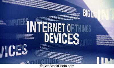 choses, termes, apparenté, internet