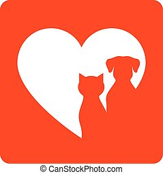 chouchou, coeur, rouges, signe