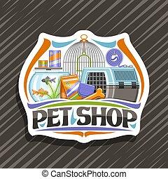 chouchou, logo, vecteur, magasin