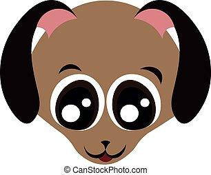 chouchou, shelter., mignon, conception, eyes., clinique, dog., vétérinaire, heureux, grand, peu, museau, brun, magasin, pet., puppy.
