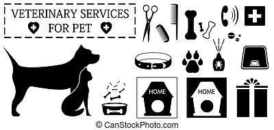 chouchou, vétérinaire, objets, soin