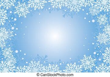 christmas-card, flocons neige, backgroun