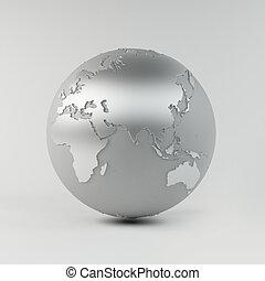 chrome, la terre