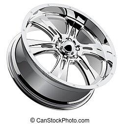 chrome, roue