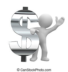 chrome, symbole, dollar