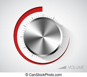 chrome, volume, bouton