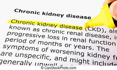 chronique, maladie, rein