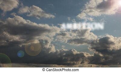 chronocinématographie, dur, words:, reussite, &, détermination, travail, clouds., ambition, dépassement, motivation