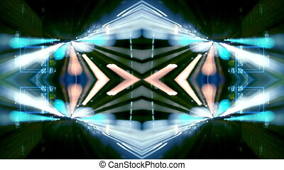 chronocinématographie, fait, coup, modèle, scène abstraite, rue, trafic, nuit