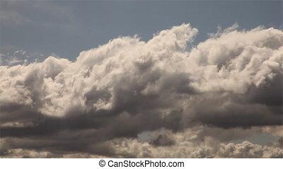 chronocinématographie, nuages, &, goobye, signe, vert, dépassement, route