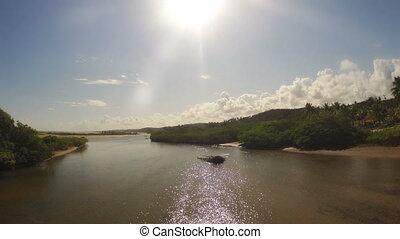 chronocinématographie, plage, lagune