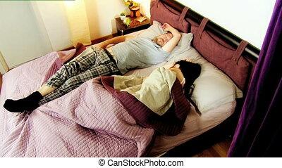 chronocinématographie, réveiller, mari, épouse