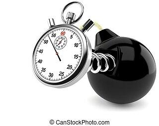 chronomètre, bombe