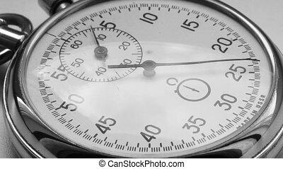 chronomètre, compte, timelapse, -, temps