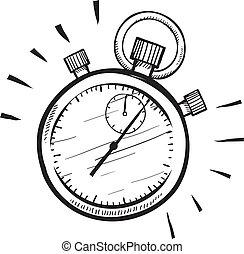 chronomètre, croquis