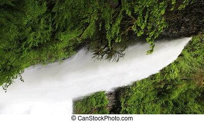 chute eau, supérieur, nord, vertical, chutes