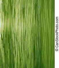 chute eau, vert