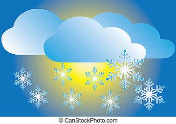 chute neige, icône