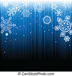 chute neige, résumé, hiver, fond