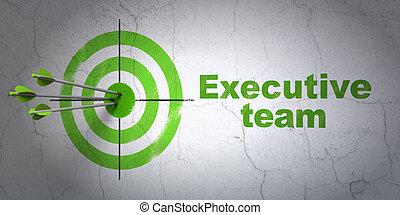 cible, business, mur, cadre, fond, équipe, concept: