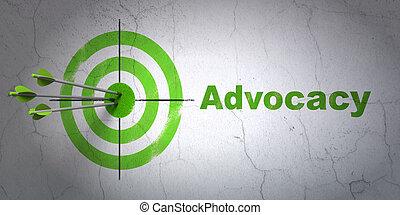 cible, mur, advocacy, fond, droit & loi, concept: