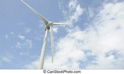 ciel, énergie éolienne