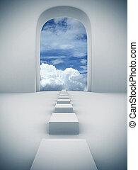 ciel, étapes