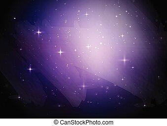 ciel étoilé, galaxie, fond