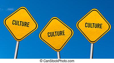 ciel bleu, -, jaune, culture, signes