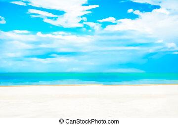 ciel bleu, nature, résumé, sable, fond, barbouillage, plage blanche