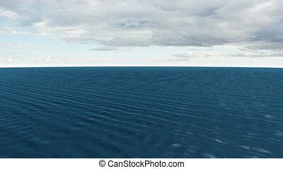 ciel bleu, océan, sous, encore