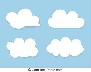 ciel bleu, sur, ensemble, nuages