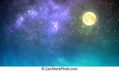 ciel, boucle, nuit
