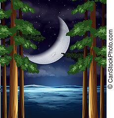 ciel, croissant de lune