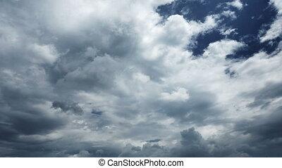 ciel, défaillance, nuages, 4k, temps