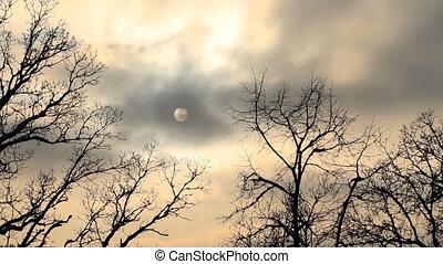 ciel dramatique, timelapse