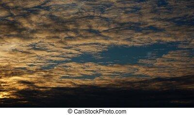 ciel, dramatique, timelapse couvre, levers de soleil